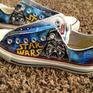 starwars star wars shoes custom art converse allstars all star stars