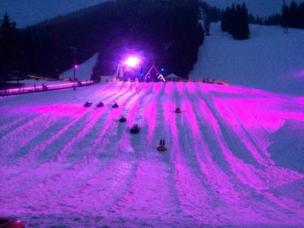 cosmic sledding main hill