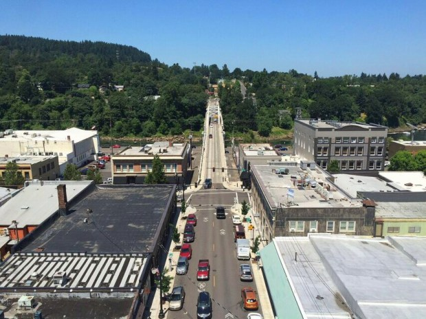 Oregon city elevator view