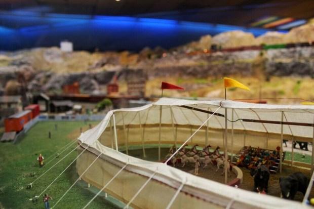 Model railroad circus