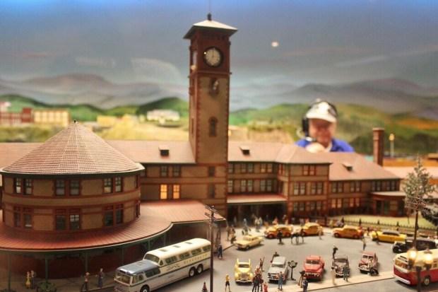 Model railroad union station