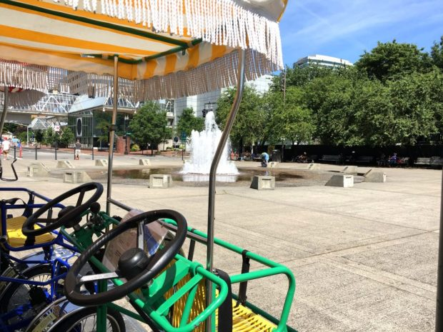 Waterfront Loop Bikes and Fountain