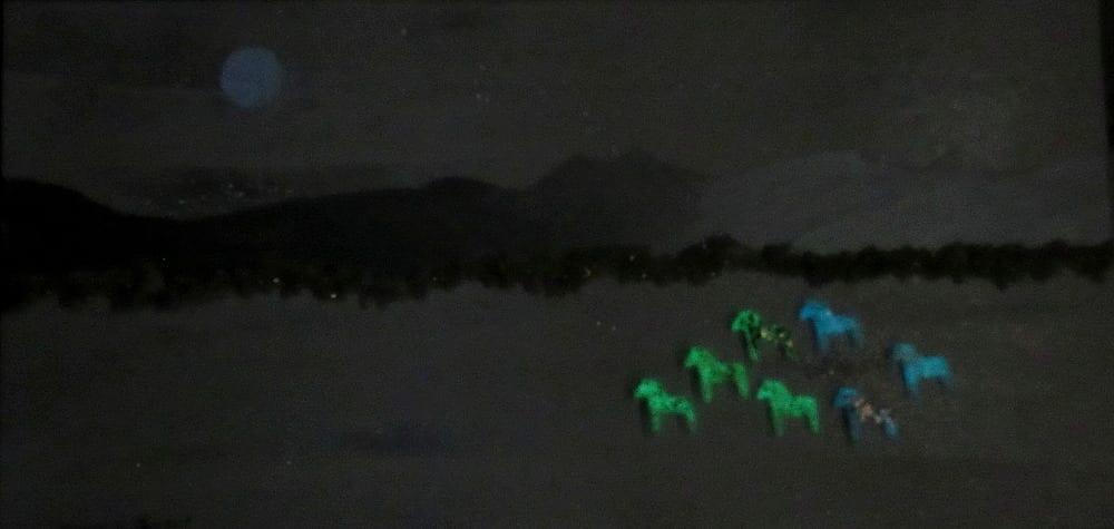 Glowing Moonlit Horses