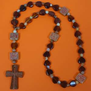 Red Agate Prayer Beads