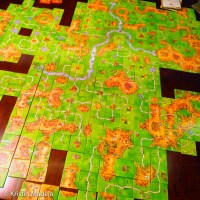 one giant game of Carcassonne
