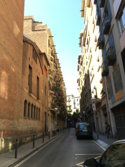 Pretty side street. I wish you could see but they're too narrow! - El Raval