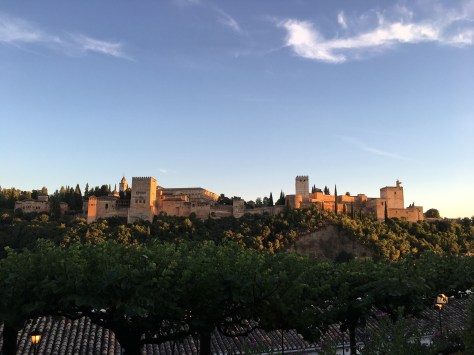 The Alhambra at sunset. I mean...