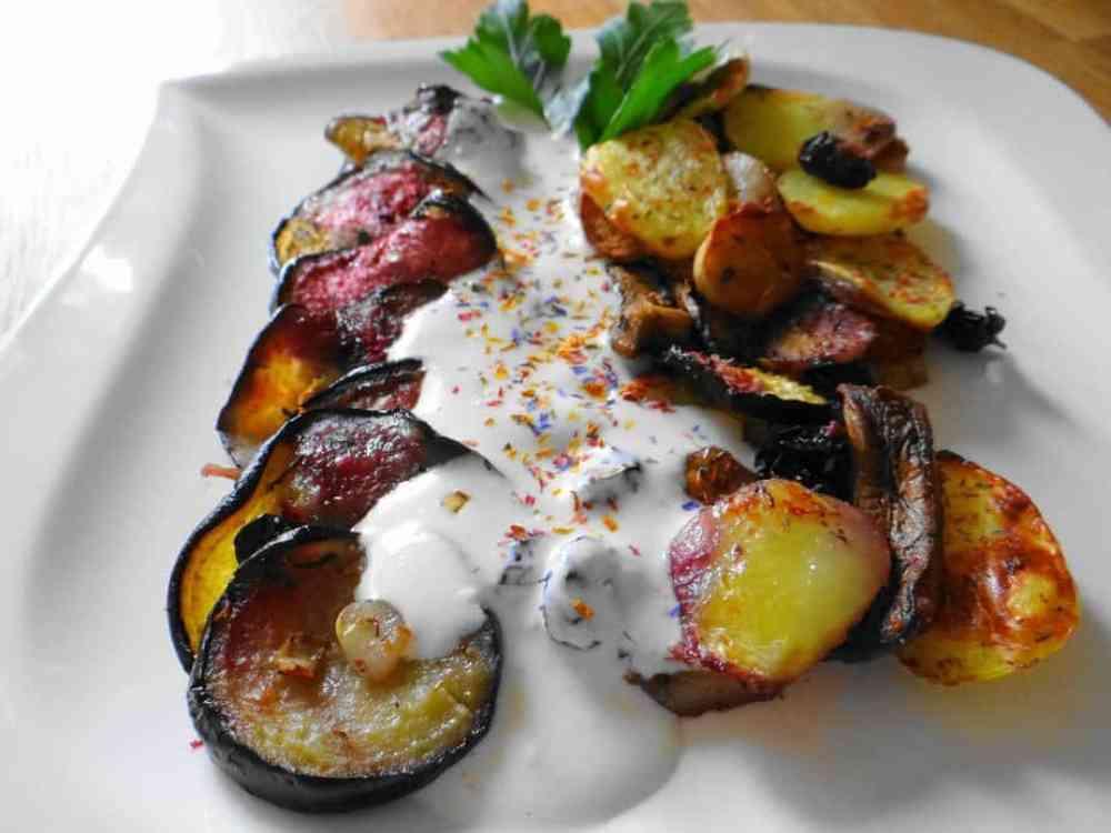 Melanzani-Kartoffelchips