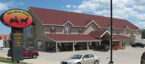 A real Amish buggy shop in Pennsylvania. Image from amishbuggypa.com