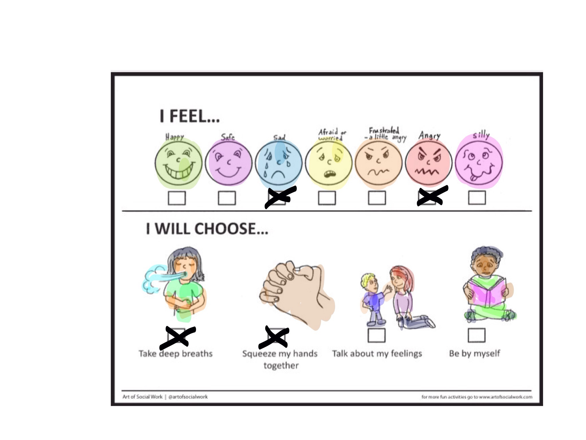Check Your Emotions Worksheet