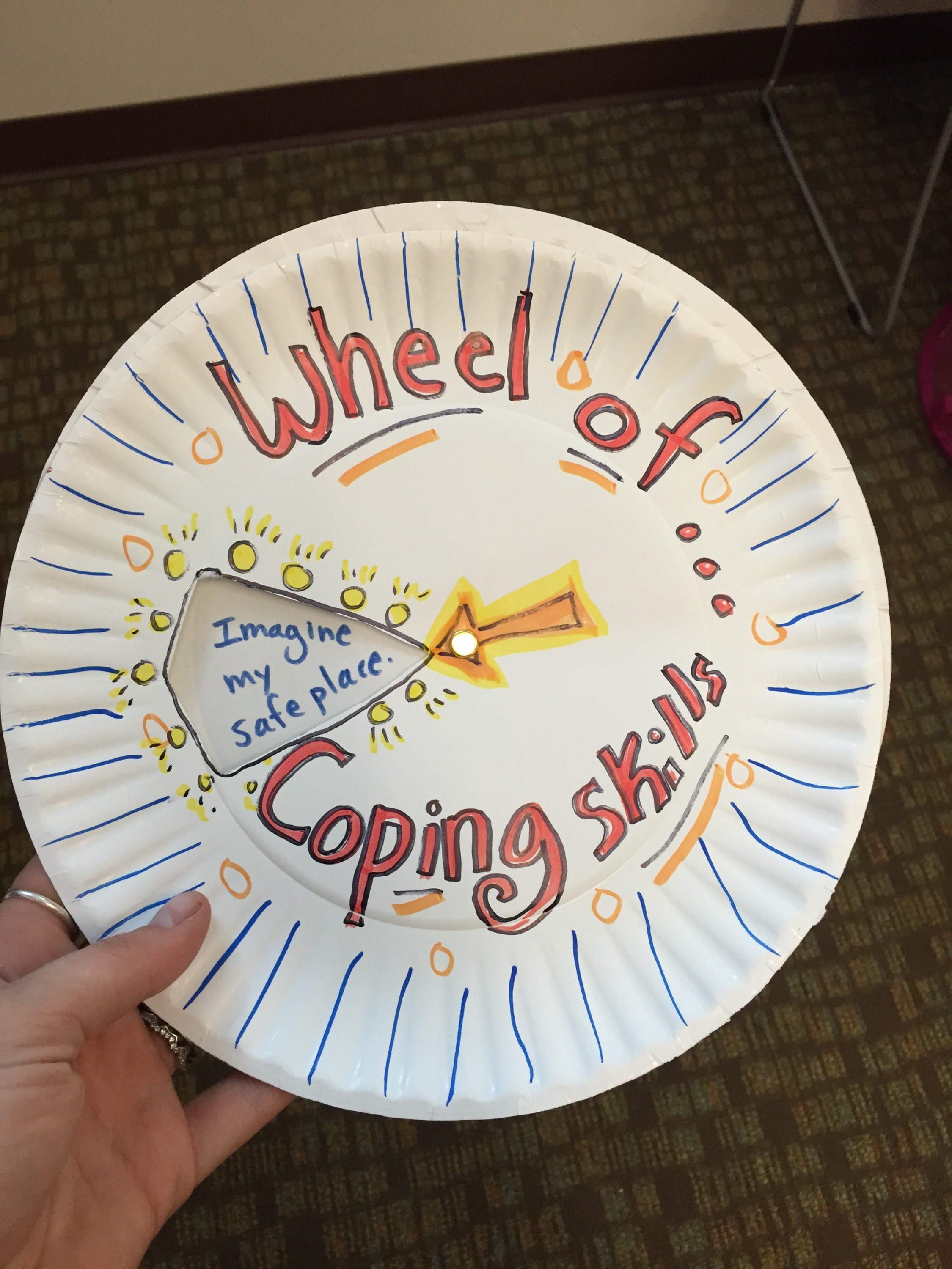 Spin The Wheel Of Coping Skills Art Of Social Work