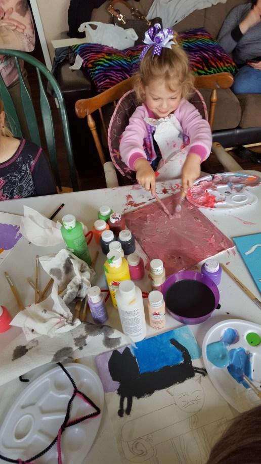 riann painting in progress