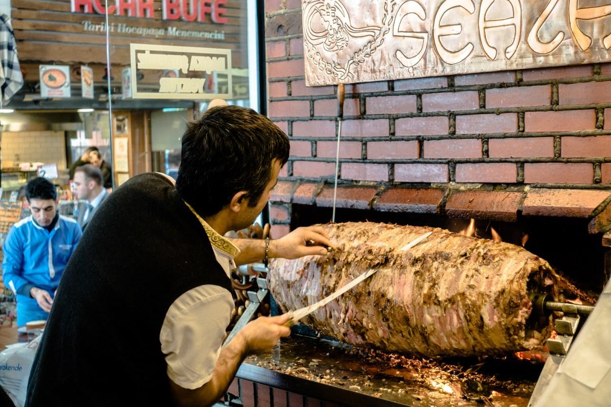 Turkish Food in Istanbul - Cağ Kebab