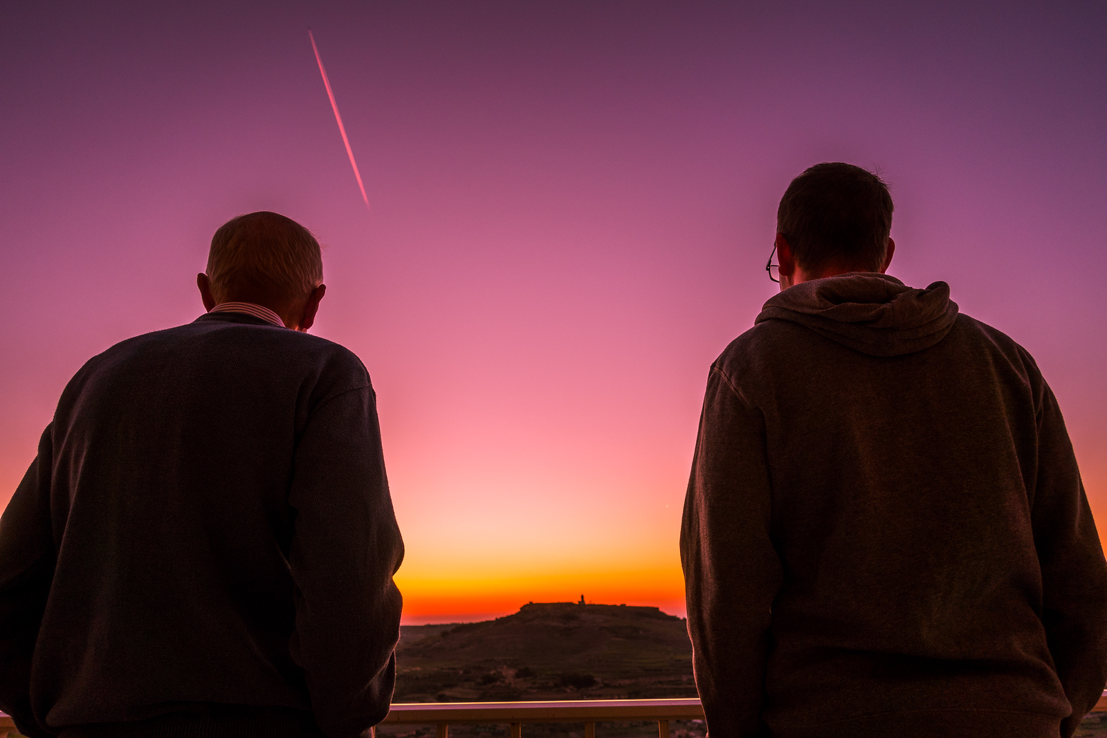 Malta Pictures - watching the sunset in Zebbug