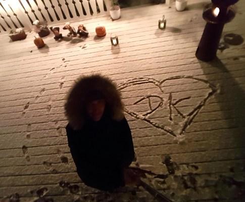 Mein erster dänischer Schnee