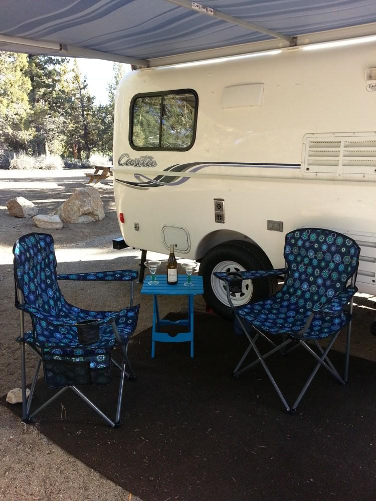 Travel Trailer Camping at Serrano Campground, Big Bear Lake, California (3/6)