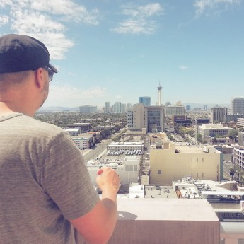 Mike, looking towards the Strip, Las Vegas, NV.