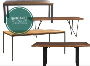 dining table round up