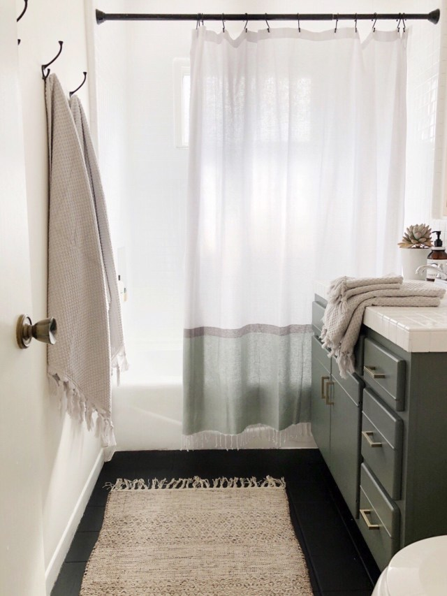 Kristin Dion Design DIY Bathroom Remodel After Photo Tile Glaze