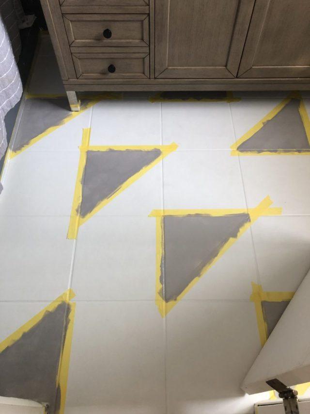 DIY stencils painted floors