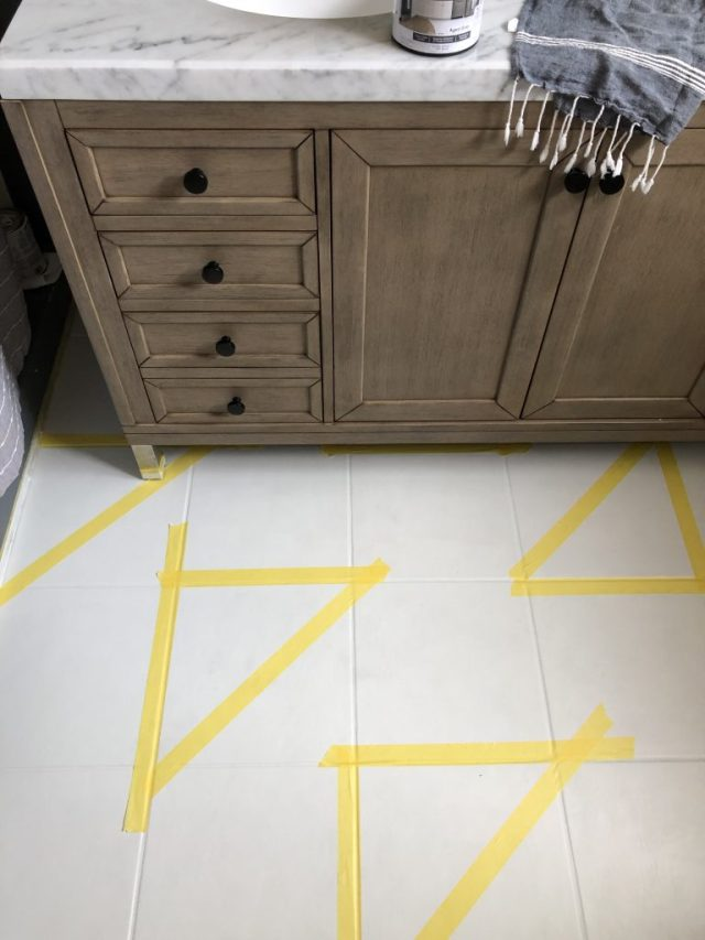 DIY stencils painted floors