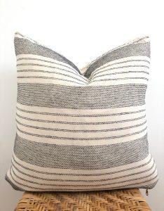 vintage black and white stripe pillow