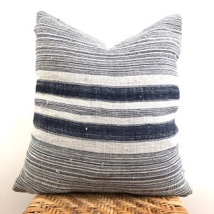 vintage hmong stripe pillow