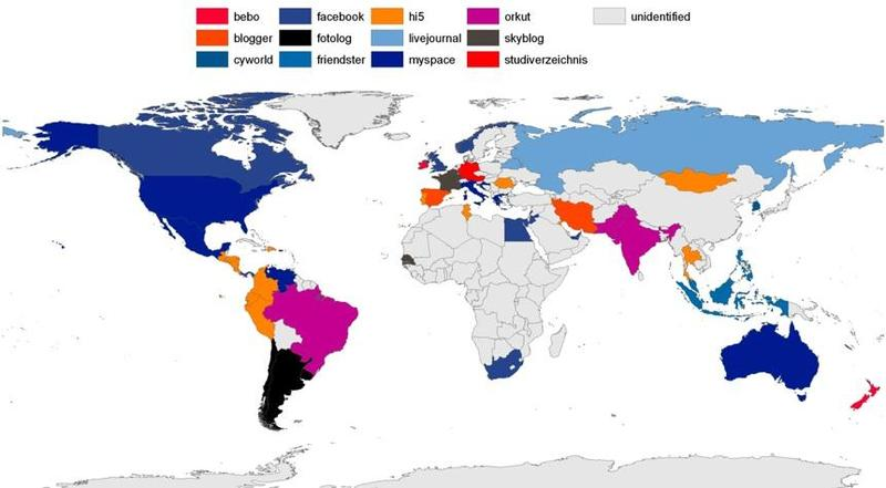 Social networks map