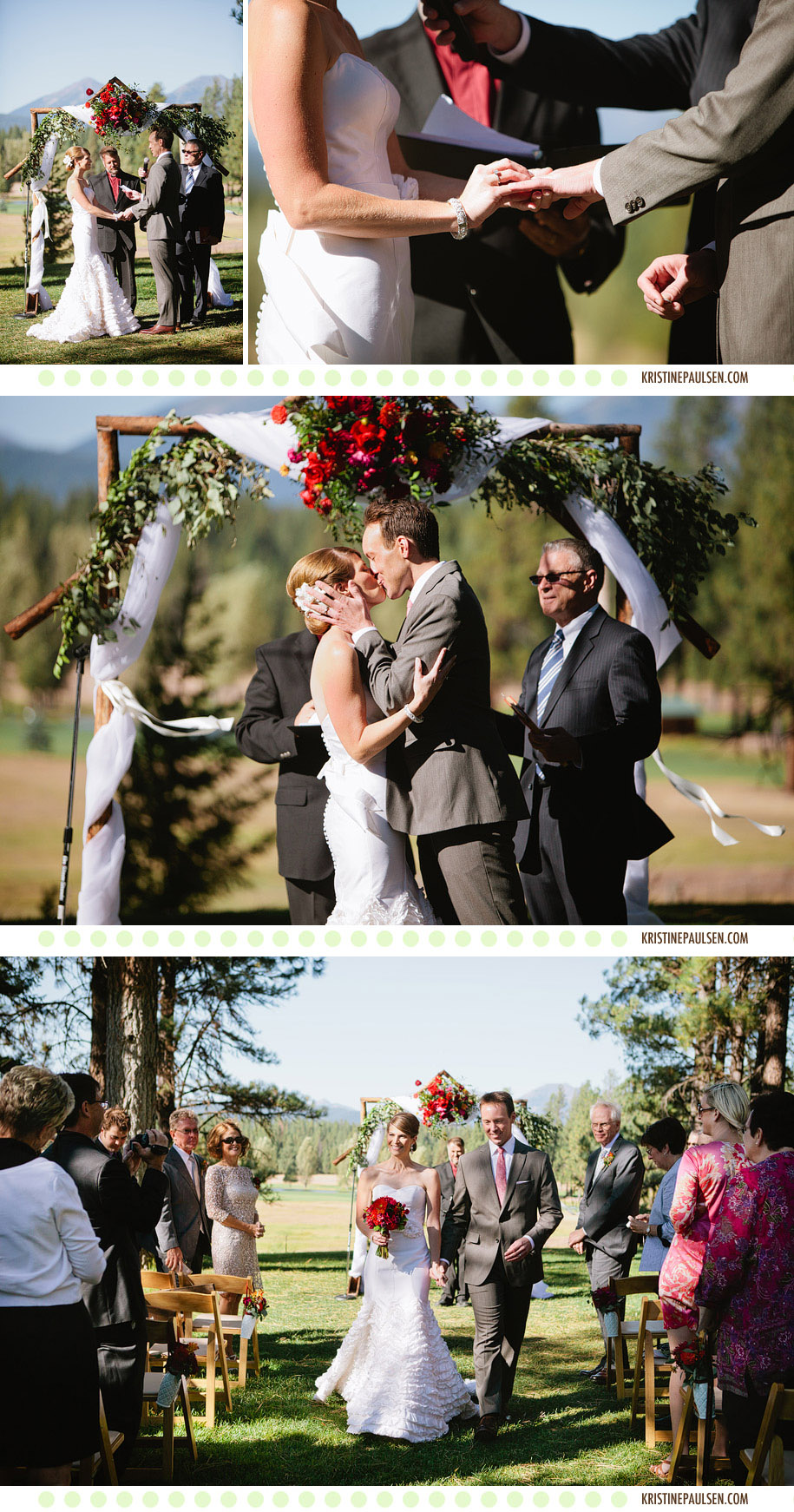 Breezy And Beautiful Sara And Ryans Seeley Lake Wedding Kristine Paulsen Photography