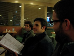 Dinner at Milt's after the Bakersfield show
