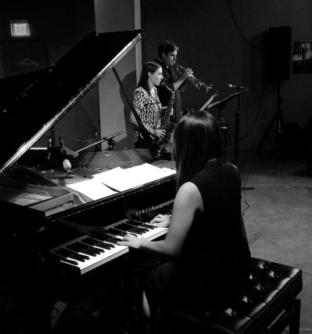 With Motoko Honda and Beth Schenck at the Blue Whale in LA, photo © Kio Griffith