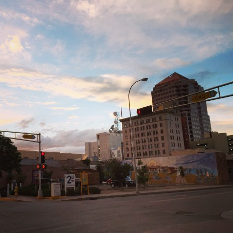 Downtown Albuquerque sunset