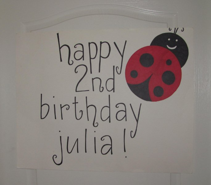 simple ladybug happy birthday sign