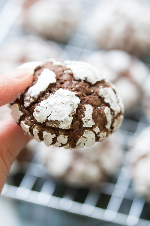 Fudgy Chocolate Crinkle Cookies are a Christmas cookie favorite! With a powdered sugar coating, this easy chocolate crinkles recipe is perfect for holiday gift baskets!