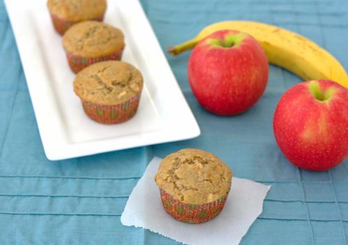 banana-apple cinnamon muffins, Kristine's Kitchen