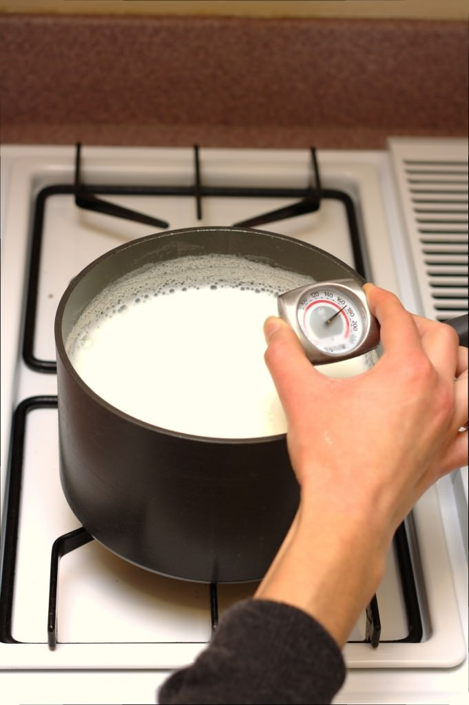 Homemade Greek Yogurt - easy, step by step instructions on how to make THE creamiest yogurt.   Kristine's Kitchen