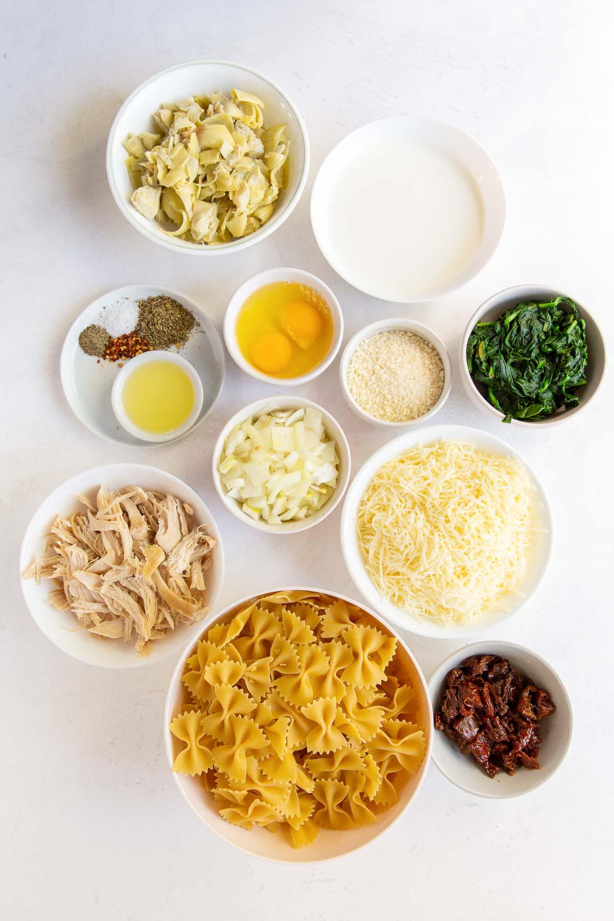 ingredients for chicken florentine pasta recipe
