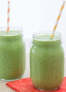 Peach, Mango, and Kale Smoothie. This is one of my favorite healthy green smoothie recipes!