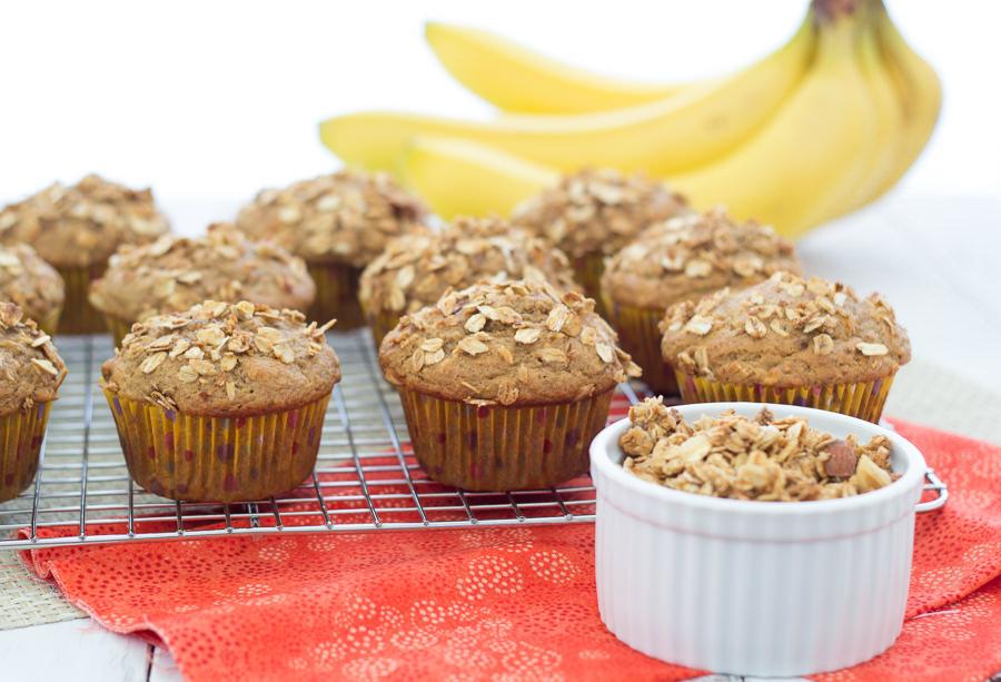 Granola Crunch Banana Muffins   Kristine's Kitchen