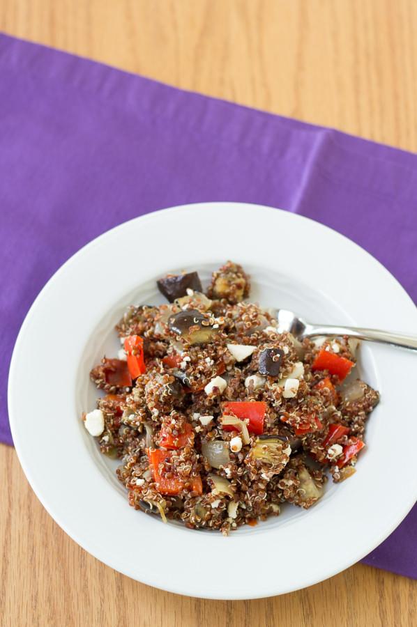 Roasted Vegetable Quinoa Salad with Balsamic Vinaigrette   Kristine's Kitchen