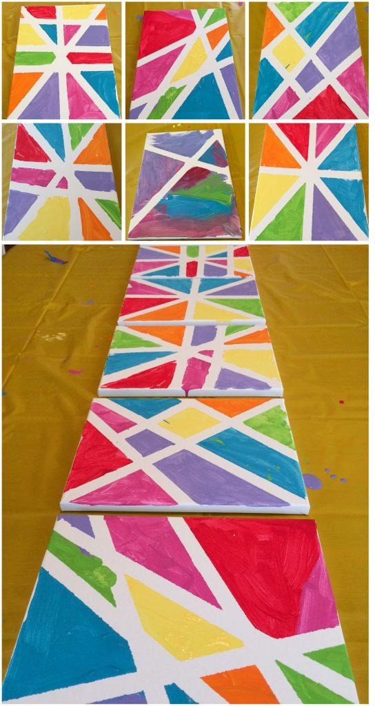 Colorful Art Birthday Party   Kristine's Kitchen