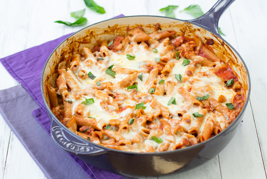 Skillet Baked Penne- the comfort of baked pasta without all of the fuss   Kristine's Kitchen