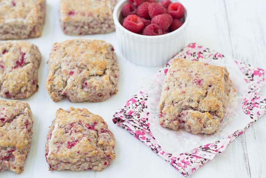 Whole-Wheat Raspberry Ricotta Scones - a healthier take on this breakfast treat. | Kristine's Kitchen
