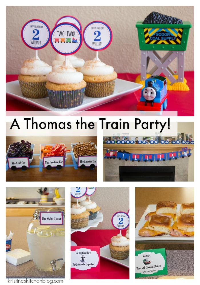 A Thomas the Train Birthday Party!