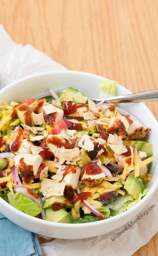 BBQ Chopped Chicken Salad with Cilantro-Lime Dressing | Kristine's Kitchen