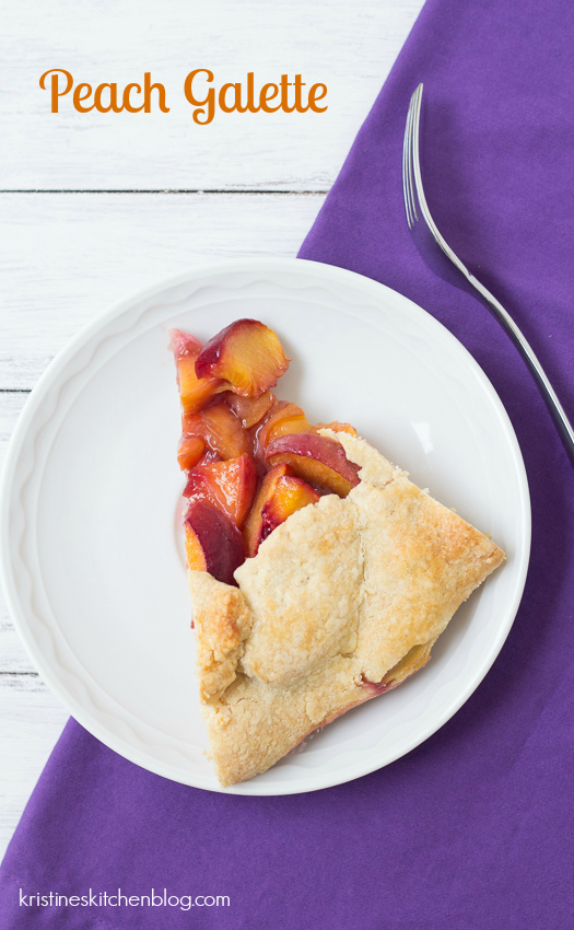 Peach Galette - sweet, juicy peaches fill a buttery, flaky crust   Kristine's Kitchen