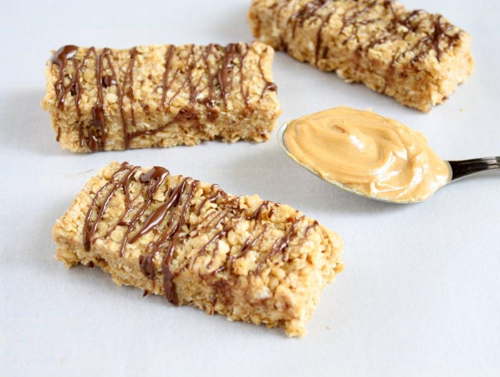 No Bake Peanut Butter Granola Bars from Live Well Bake Often