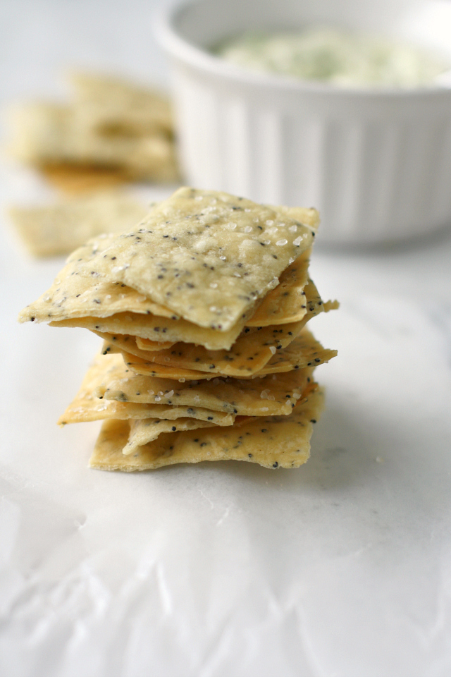 Poppy Seed Crackers from The Pretty Bee