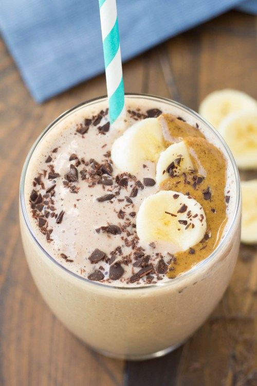 Chocolate Almond Protein Smoothie