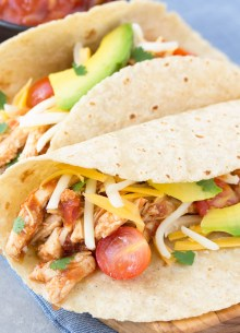 An easy recipe for 3-Ingredient Slow Cooker Taco Chicken. My family has made this so many times we've lost count! It's a healthy weeknight dinner made simple with the help of your crock pot!